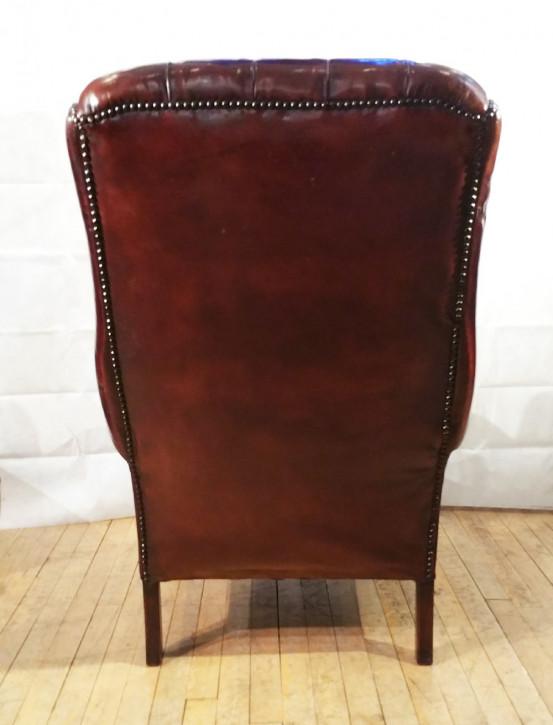 Antike englische Ledersessel Echtleder Chesterfield Sessel 2 Stk. ca 1940