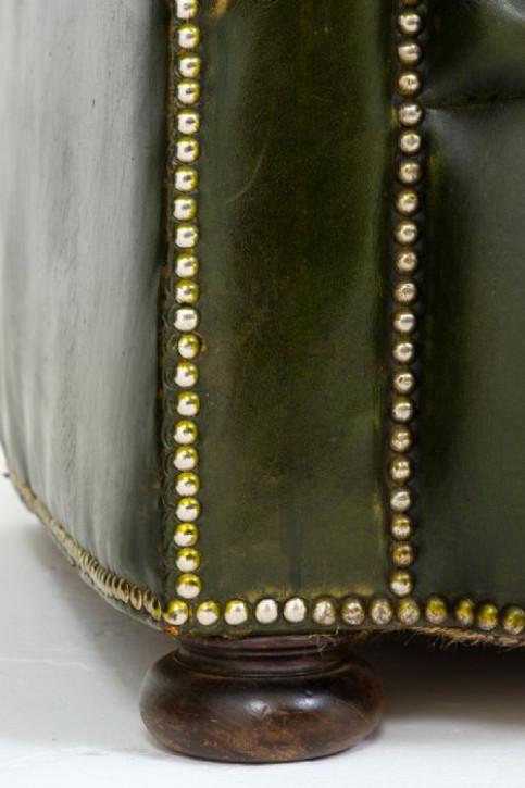Antike Echtleder Sessel Chesterfield Sessel Leder englisch ca 1920