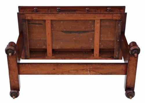 Viktorianischer Englischer Antiker Mahagoni Schreibtisch ca. 1860