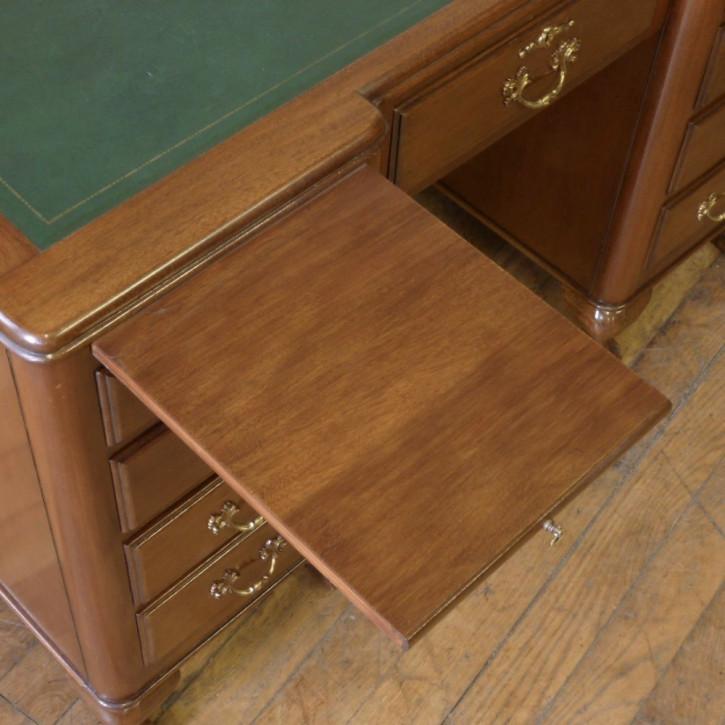 Englischer Mahagoni Massivholz Schreibtisch original antik ca 1920