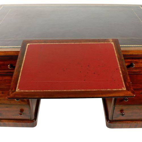 Viktorianischer Mahagoni Partner Schreibtisch englisch antik ca 1870