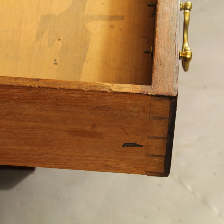 Viktorianischer Mahagoni Schreibtisch Massivholz antik ca 1850