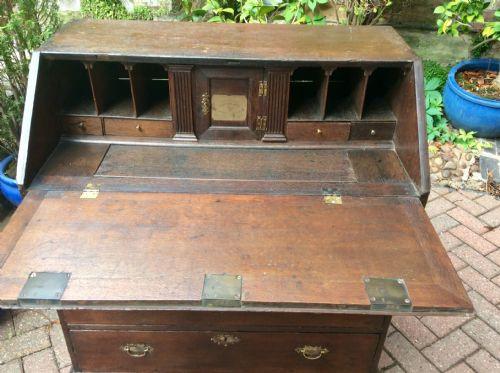 Georgianischer original antiker Eichen Schreibtisch ca 1750