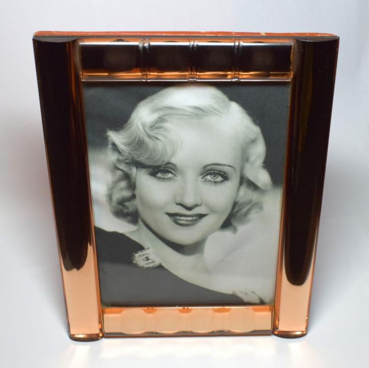 Englischer antiker Art Deco Spiegelglas Bilderrahmen ca 1930