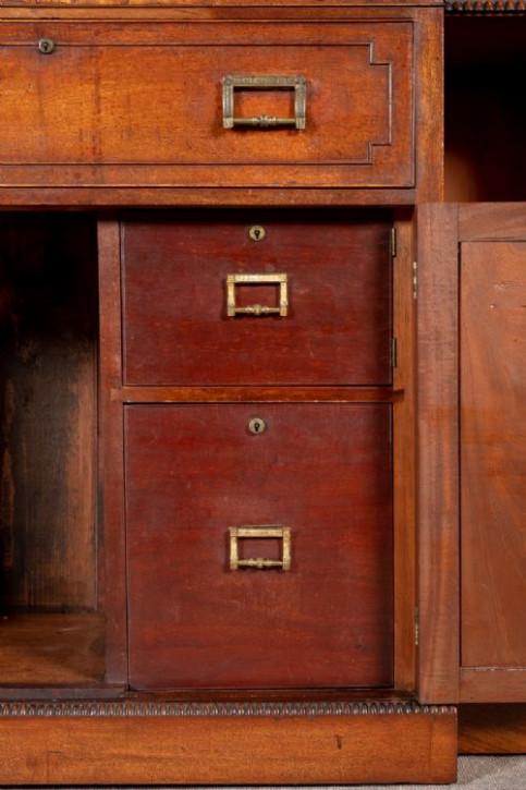 George III. Antikes Englisches Mahagoni Sekretär Bücherregal ca. 1800