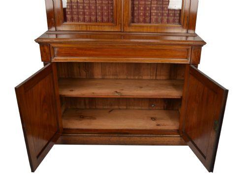 Viktorianisches Antikes Englisches Mahagoni Bücherregal ca. 1870