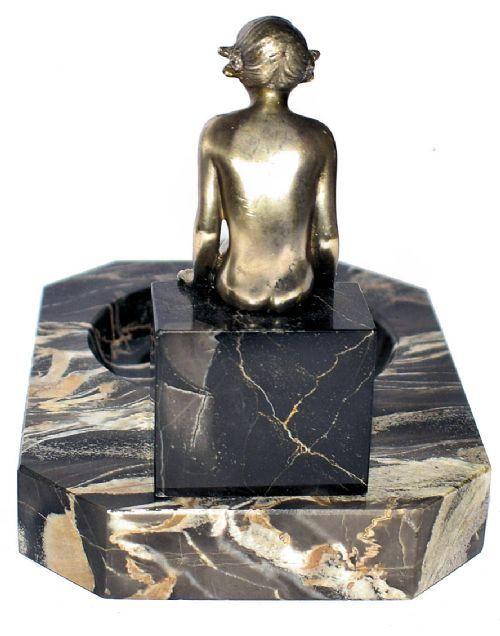 Österreichische Antike Art deco Bronze von Lorenzl ca. 1930