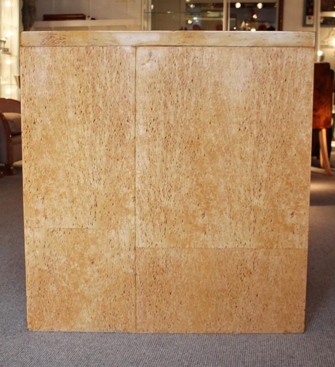 Art deco Englischer Antiker Birkenholz Schreibtisch ca. 1930