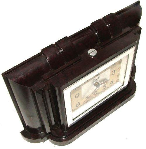 Englische Antike Art Deco Miniatur Bakelit Uhr ca. 1930