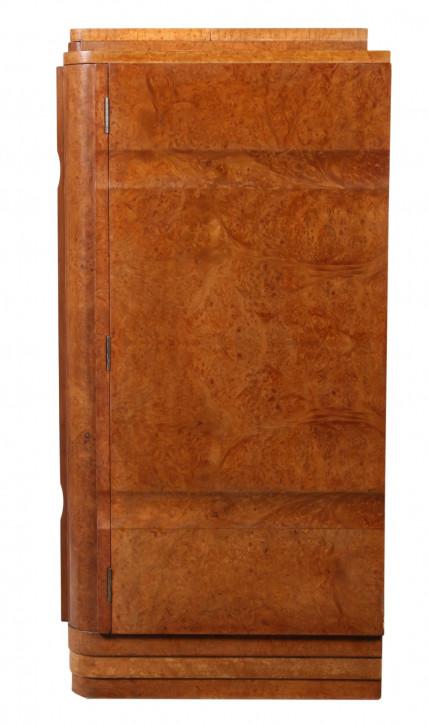 Antiker Englischer Art deco Ahornholz Cocktailschrank ca. 1930