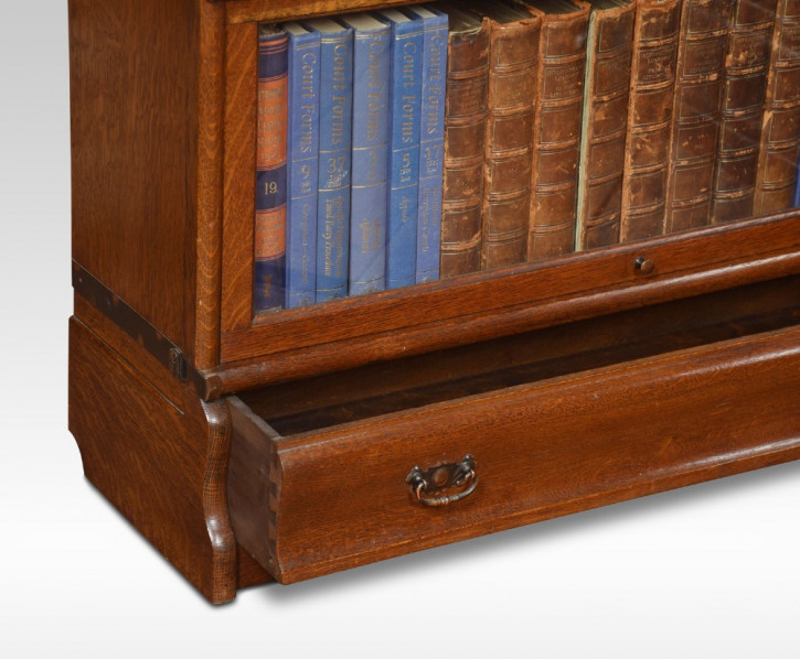 Antikes Englisches Paar Eichen Globe Wernicke Bücherregale ca. 1910