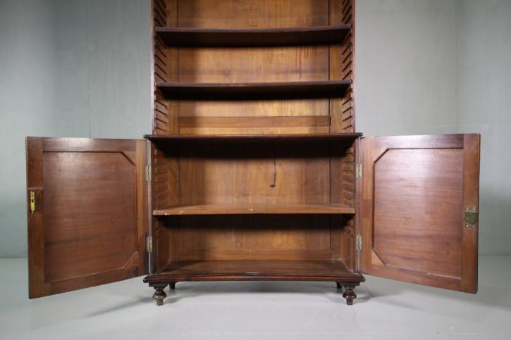 Regency Antikes Englisches Mahagoni konkaves Bücherregal ca. 1815