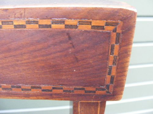 Edwardianischer englischer Mahagoni Esszimmer Stuhl antik ca. 1890