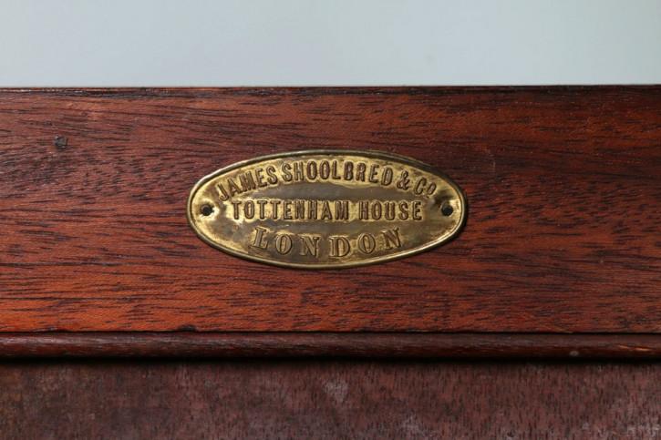 Viktorianischer Antiker Englischer Bücherschrank von James schoolbred & co. ca. 1890