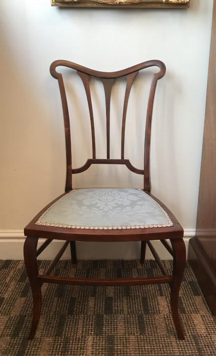 Edwardianischer Mahagoni Stuhl antik englisch ca 1890