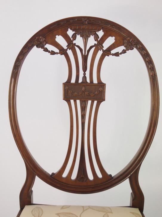 Edwardianischer Mahagoni Esszimmerstuhl original antik ca 1890