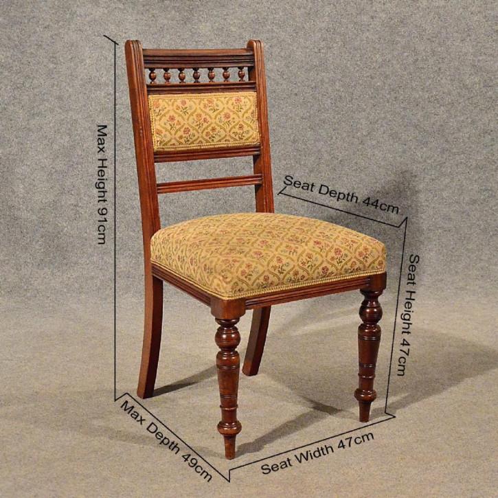 Antike edwardianische Esszimmerstühle Mahagoni englisch ca 1910