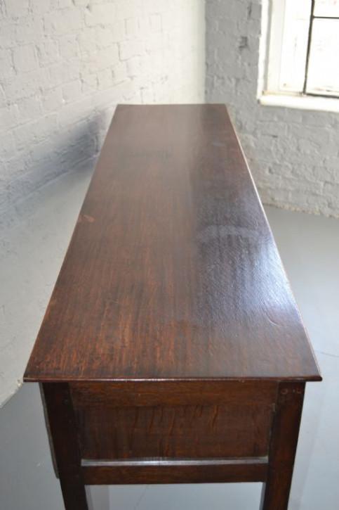 Georgianisches Sideboard Eiche Beistelltisch antik ca 17. Jh