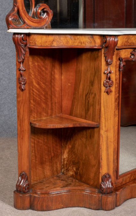 Viktorianisches englisches Nussbaum Sideboard antik ca 1870