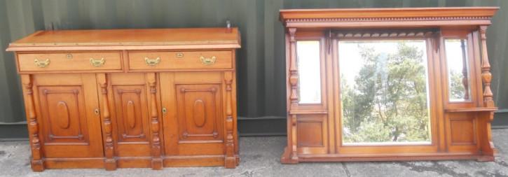 Edwardianisches Mahagoni Sideboard antik ca 1890