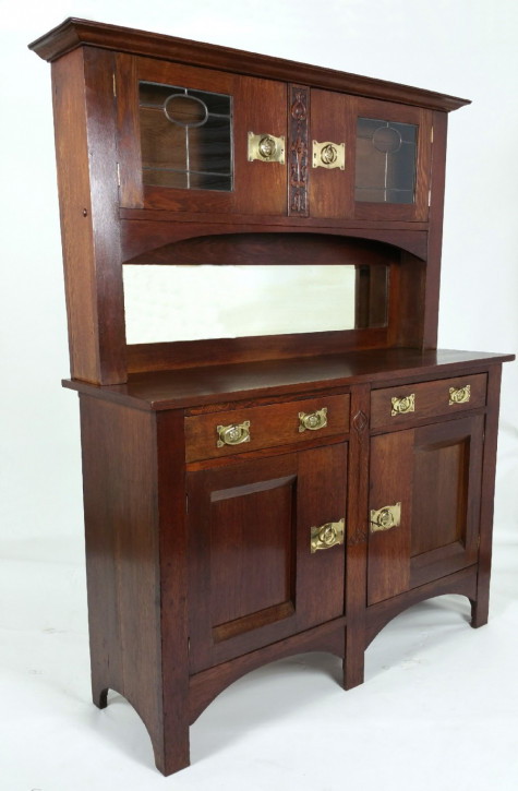 Arts and Crafts Sideboard Eiche antik ca 1870