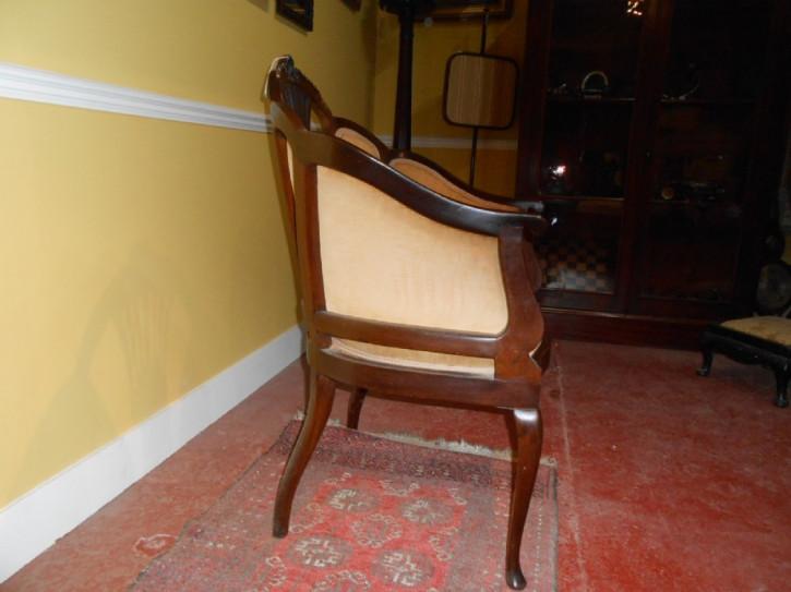 Edwardianischer Englischer Antiker Stuhl ca. 1900