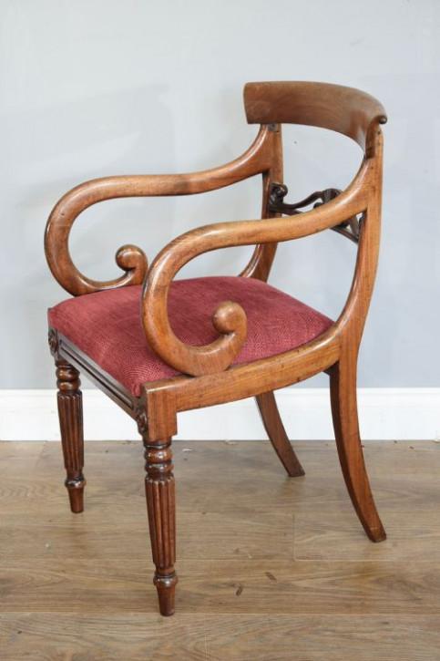 Regency Mahagoni Esszimmer Stühle antik englisch ca 1790