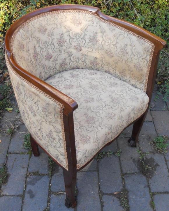 Edwardianischer Englischer Antiker Mahagoni Sessel ca. 1900