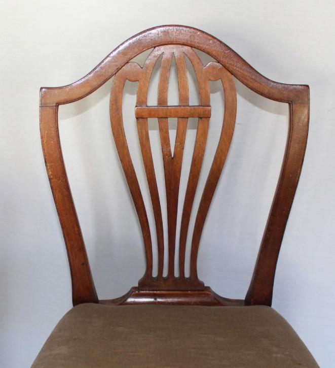 Antike georgianische George IV Mahagoni Esszimmer Stühle 18. Jh