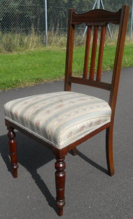 Edwardianisches Antikes Englisches Set Mahagoni Esszimmerstühle ca. 1890