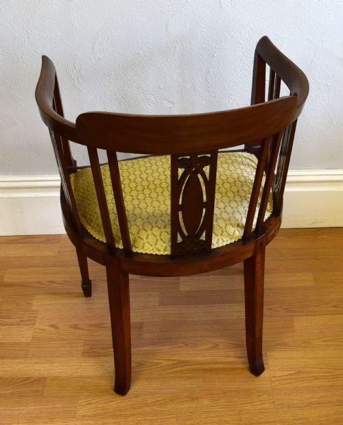 Edwardianischer Antiker Englischer Mahagoni Sessel ca. 1900