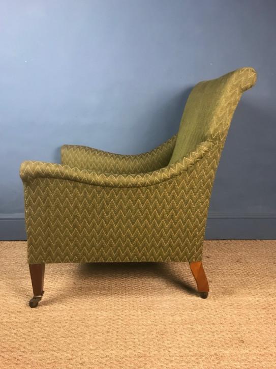 Edwardianischer Antiker Englischer Arts & Crafts Sessel ca. 1910