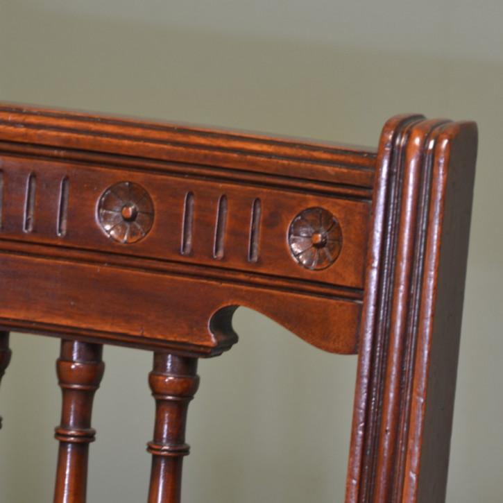 Viktorianisches Antikes Englisches Set Nussbaum Esszimmerstühle ca. 1880