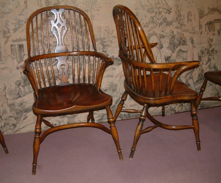 Antike viktorianische Ulmen Windsor Stühle ca 1850