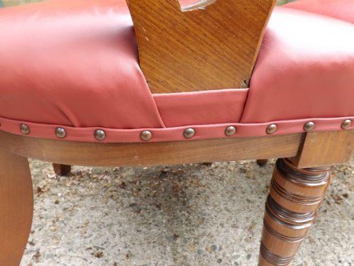 Antike viktorianische Mahagoni Esszimmer Stühle englisch ca 1870