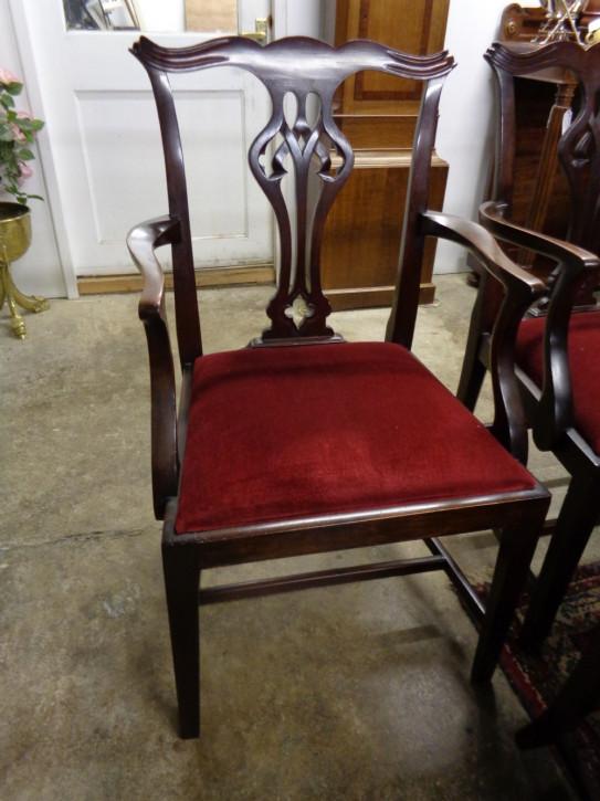 Edwardianische Mahagoni Landhaus Stühle antik ca 1910