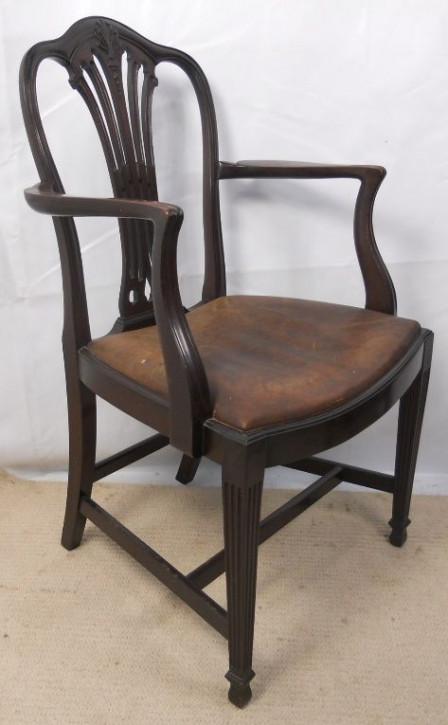 5 Antike Englische Mahagoni Esszimmerstühle im georgianischen Stil ca. 1920