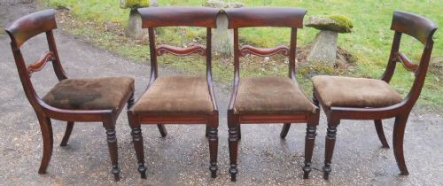4 William IV. Antike Englische Mahagoni Esszimmerstühle ca. 1830