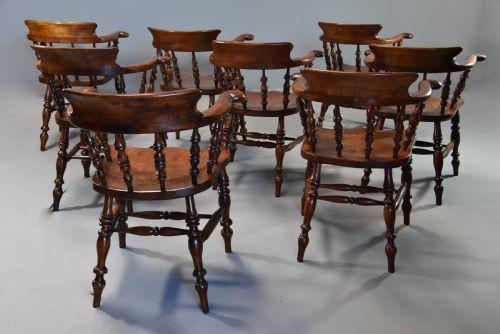 Antike Esszimmerstühle Ulme Buche Esche englisch ca 1860