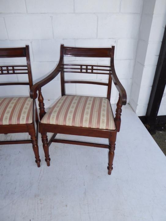 4 George III. Antike Englische Mahagoni Esszimmerstühle ca. 1770
