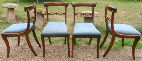 4 Antike Englische Regency Mahagoni Esszimmerstühle ca. 1800