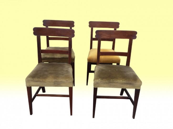 4 Irische georgianische antike Mahagoni Esszimmerstühle ca. 1800