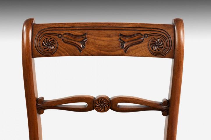 4 Regency Antike Englische Mahagoni Stühle ca. 1820