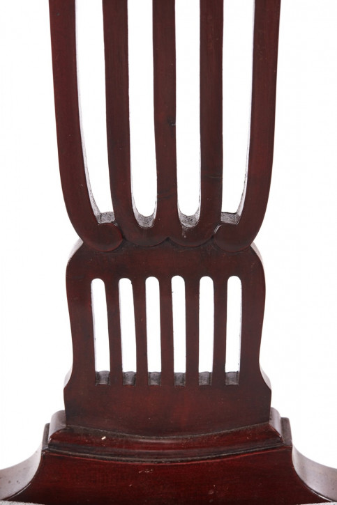 6 Antike Englische Mahagoni Esszimmerstühle ca. 1890
