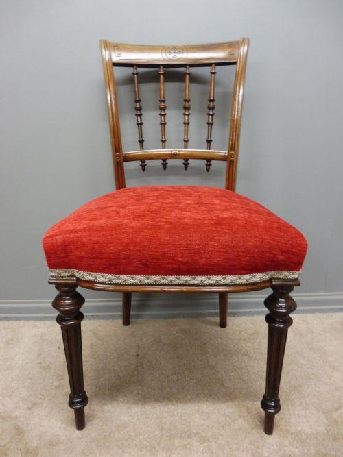 6 Schottische Antike Palisander Stühle ca. 1880