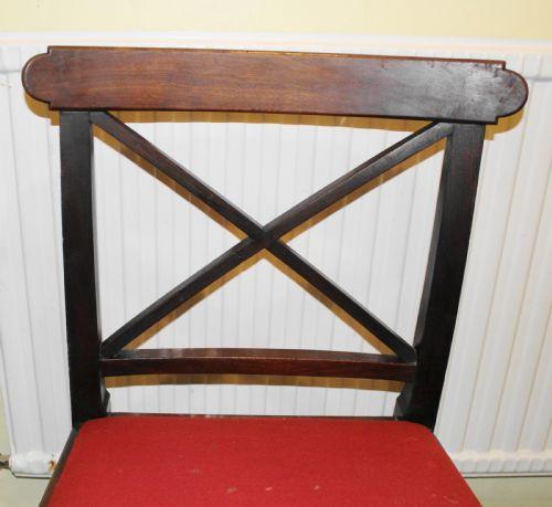 6 Antike Englische Mahagoni Esszimmerstühle ca. 19. Jh.