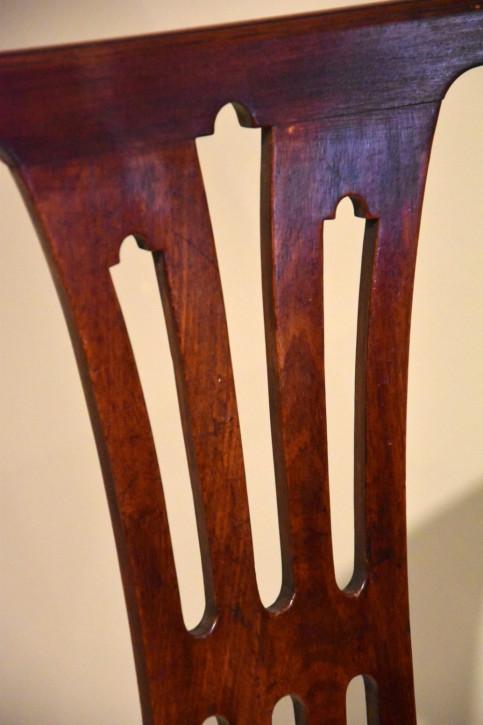 6 Antike Englische Mahagoni Esszimmerstühle ca. 18. JH.