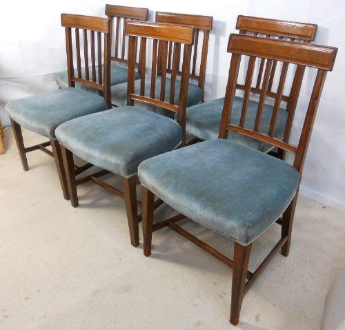 6 Georgianische Englische Antike Mahagoni Esszimmerstühle ca. 1800