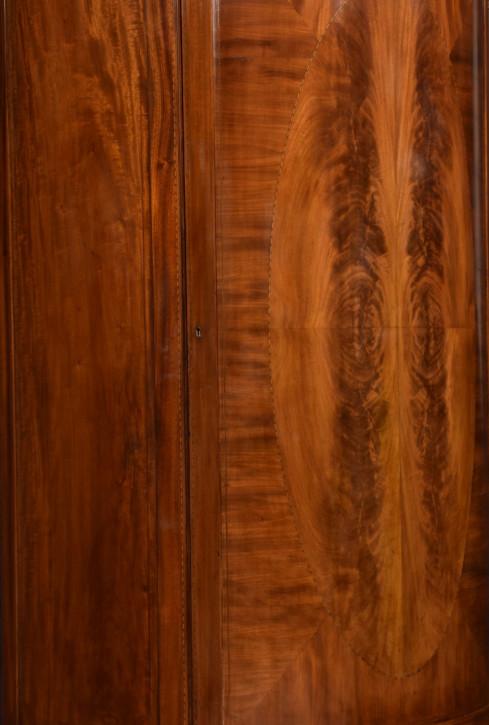 Edwardianischer antiker Mahagoni Kleiderschrank Maple & Co 1910
