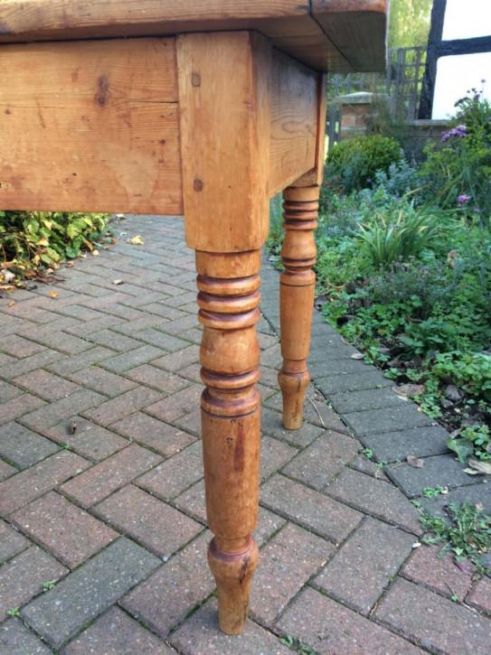 Antiker englischer Kiefern Esstisch Weichholz 19. Jh